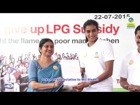 Padmasri PV Sindhu  joins the  Give it Up  Campaign in Hyderabad_Youtube_thumb_10