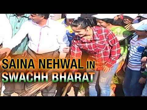Saina Nehwal Joins Swachh Bharat Campaign with Bharat Petroleum - 6TV Telangana_Youtube_thumb