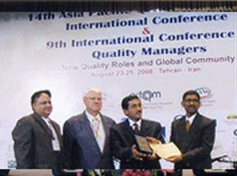 INTERNATIONAL ASIA PACIFIC QUALITY AWARD QUEST FOR EXCELLENCE